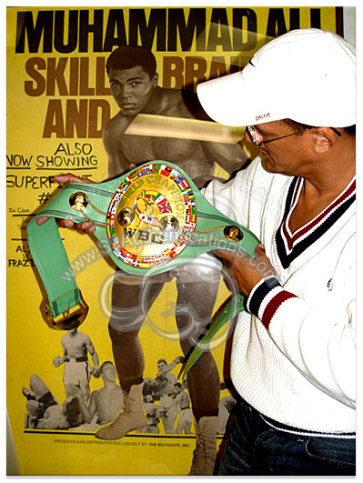Muhammad Ali WBC Belt Photo